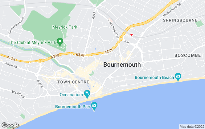 Map for Martin & Co, Bournemouth - Lettings & Sales