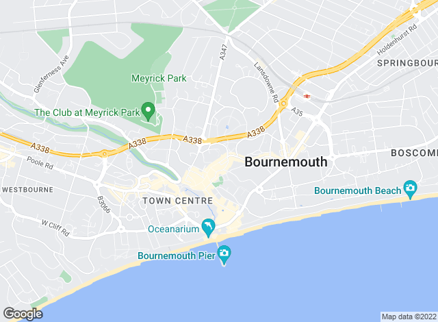 Map for Austin & Wyatt Lettings, Bournemouth