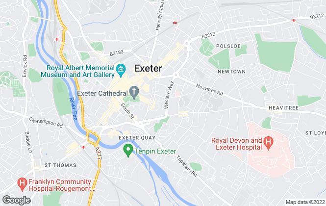 Map for Mathias & Partners, Exeter