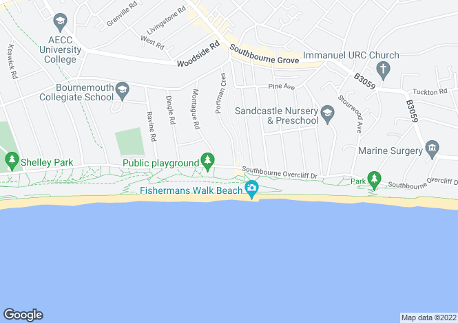 Map for Boscombe Overcliff Drive,