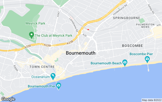 Map for CLIFFTONS, Bournemouth
