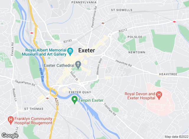 Map for Savills, Exeter