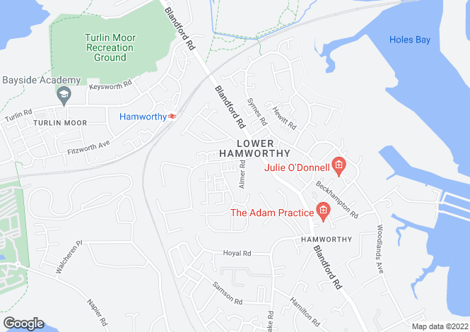 Map for Dawkins Road, Hamworthy, POOLE