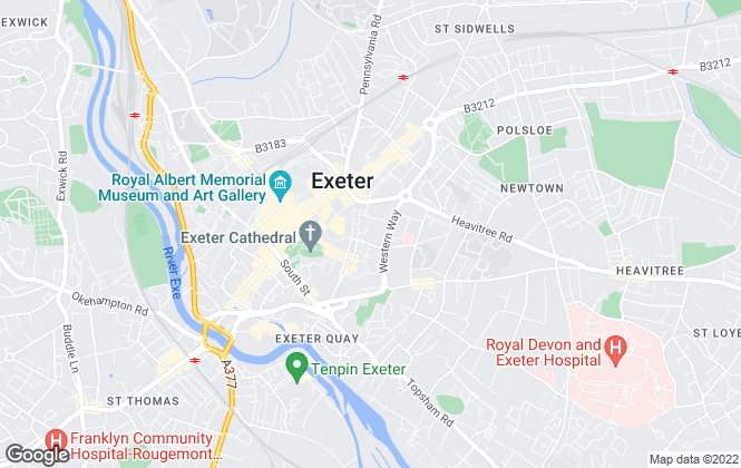 Map for Pyne & Lyon, Exeter