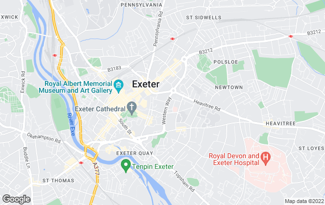 Map for Savills Lettings, Exeter