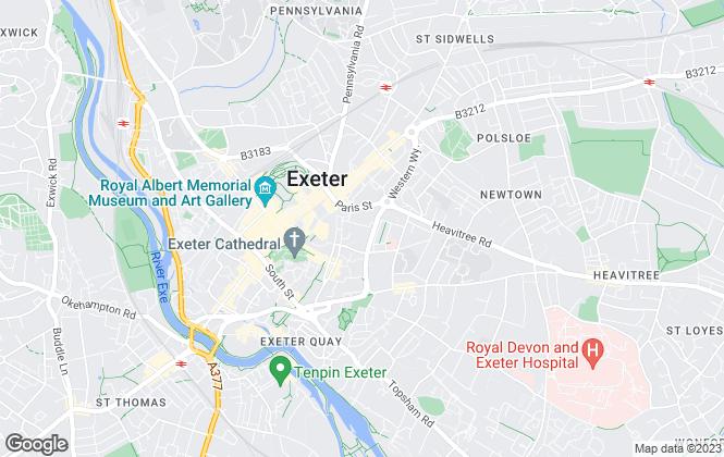 Map for Savills, Exeter