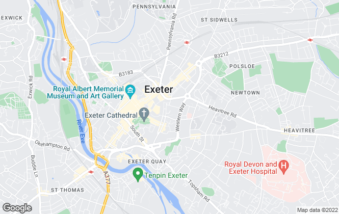 Map for Fine & Country, Exeter
