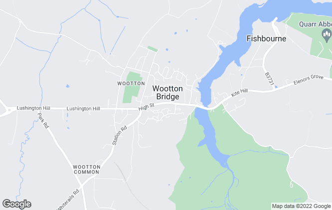 Map for Wootton Estate Agents, Wootton Bridge