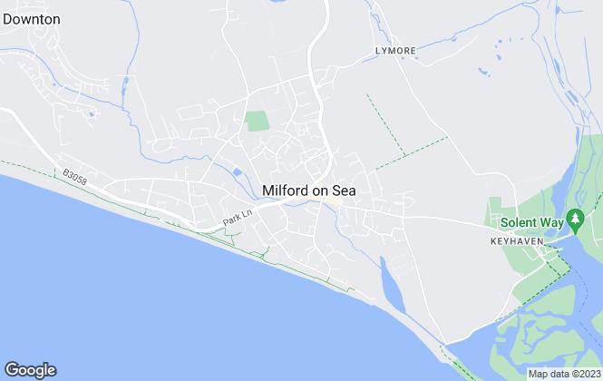 Map for Hayward Fox, Milford on sea