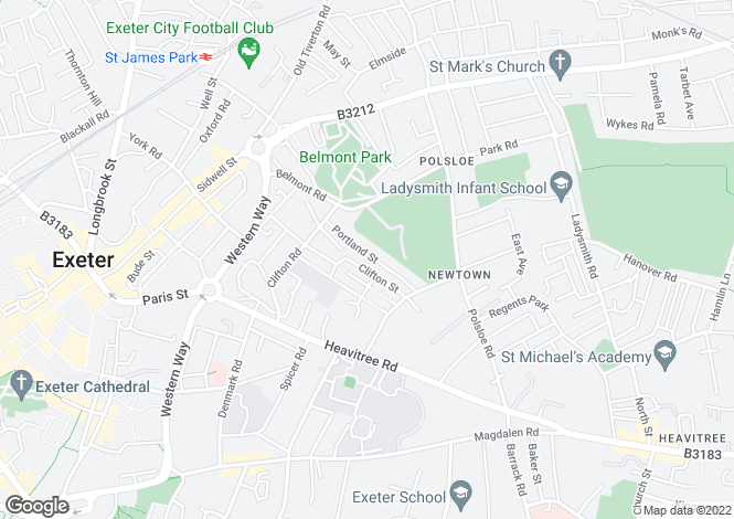 Map for Newtown