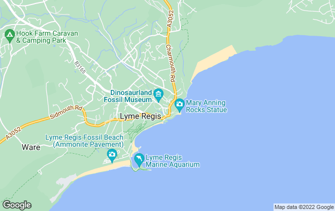 Map for Blue Box Residential, Lyme Regis