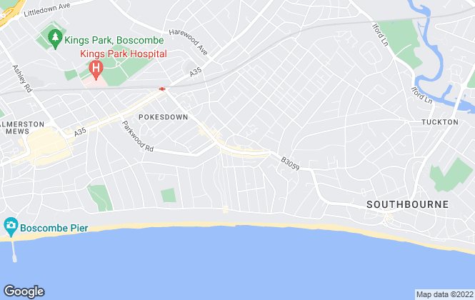 Map for Bournecoast LTD, Southbourne
