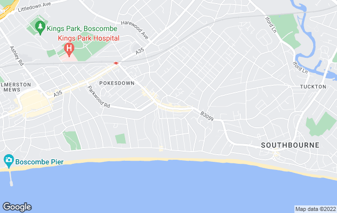 Map for Austin & Wyatt, Southbourne