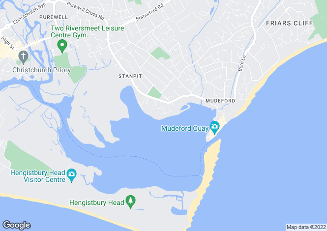 Map for 3 BED HOLIDAY LET IN MUDEFORD