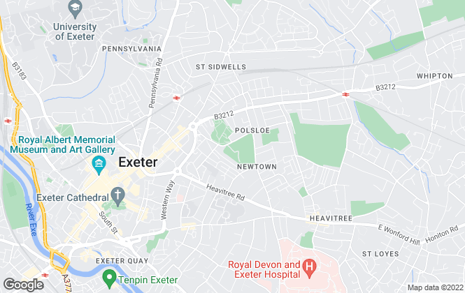Map for Total Letting Agent Ltd, Exeter