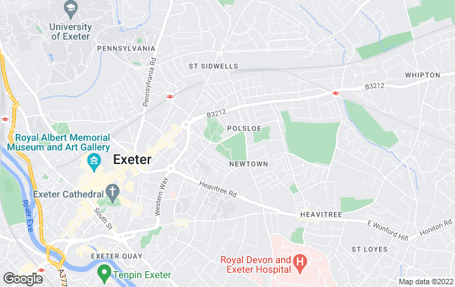 Map for Total Letting Exeter, Exeter