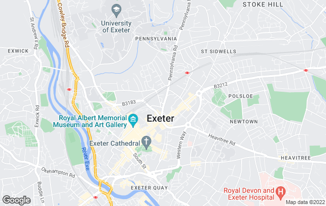 Map for Palmer Collins Letting Agents, Exeter