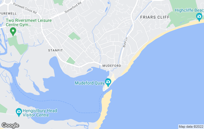 Map for Homes Estate Agents, Mudeford