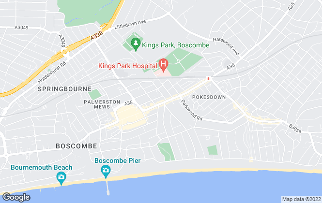 Map for Saxe Coburg, Bournemouth