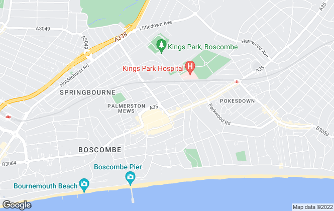 Map for Recreate, Bournemouth
