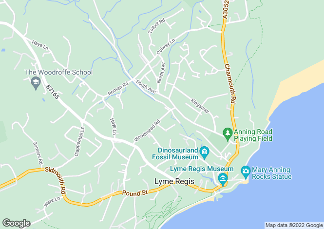 Map for Woodmead Road, LYME REGIS