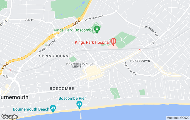 Map for Dimensions, Bournemouth