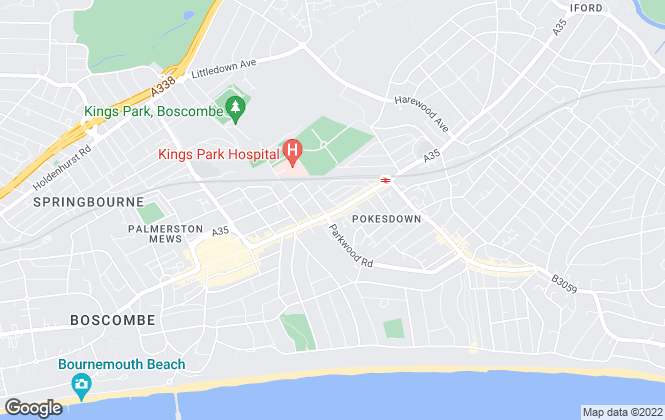 Map for Anderson Reid Estates, Bournemouth