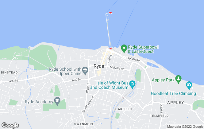 Map for Mountford Lettings, Ryde