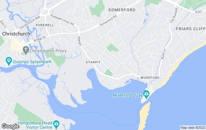 Map for Seventy Two Blue, Bournemouth & Christchurch