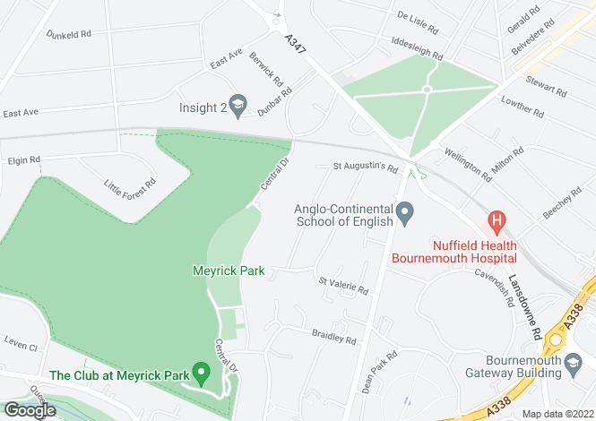 Map for Meyrick Park, Bournemouth