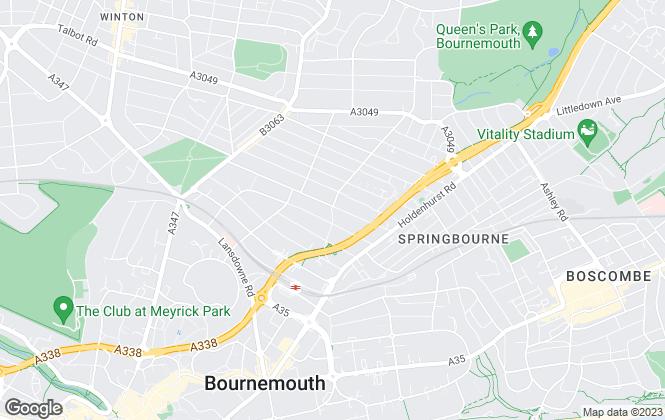 Map for Burns Hamilton, Bournemouth
