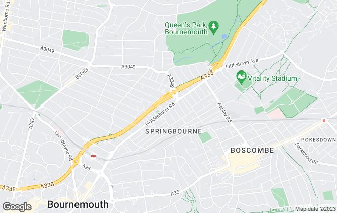 Map for MK Estates, Bournemouth