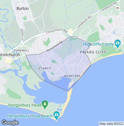 Map of property in Mudeford