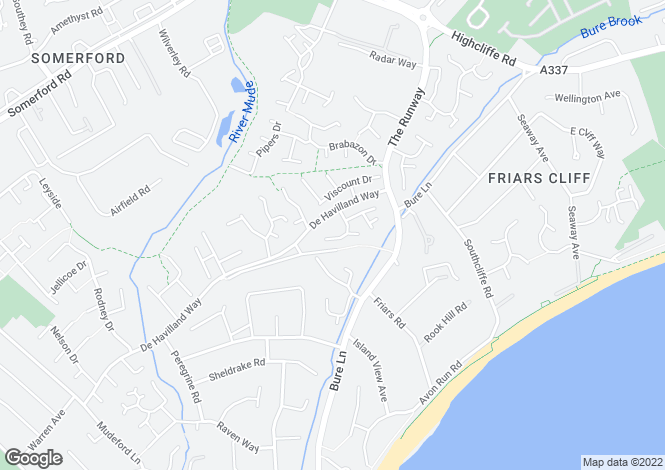 Map for Stirling Way, Mudeford, Christchurch, Dorset