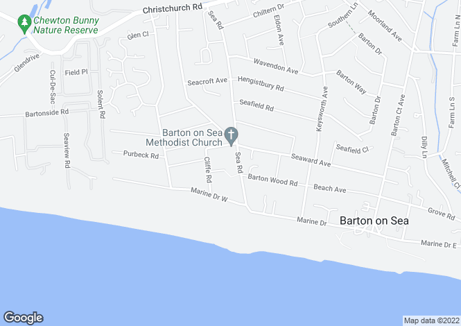 Map for Barton On Sea