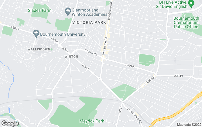 Map for Knights Estate Agents, Bournemouth