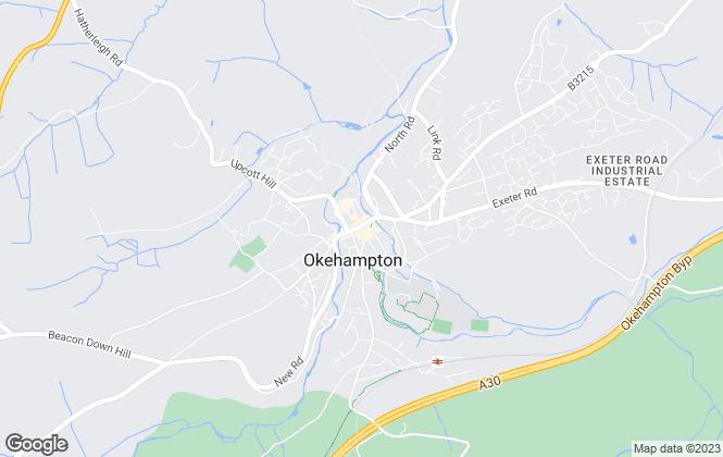 Map for Godfrey Short & Squire, Okehampton