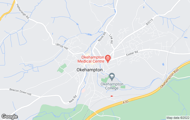 Map for Mansbridge Balment, Okehampton