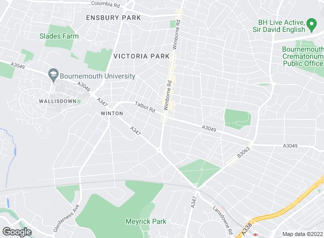Map for Adams Letting Agents, Bournemouth