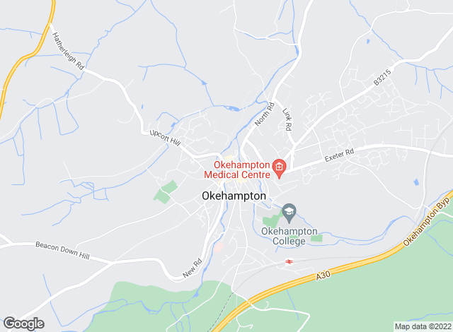 Map for Fulfords, Okehampton