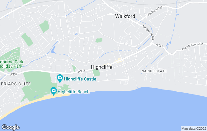 Map for Austin & Wyatt, Highcliffe