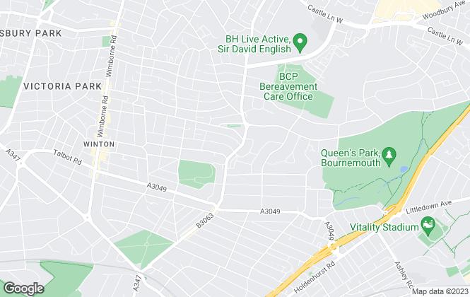 Map for Gordon Barker Ltd, Bournemouth