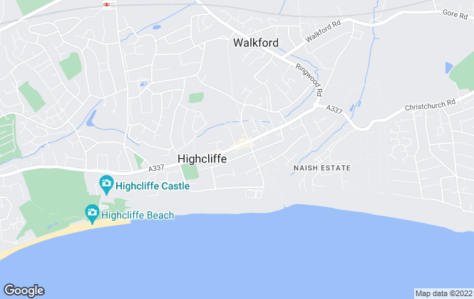 Map for Baytree Residential Letting, Highcliffe
