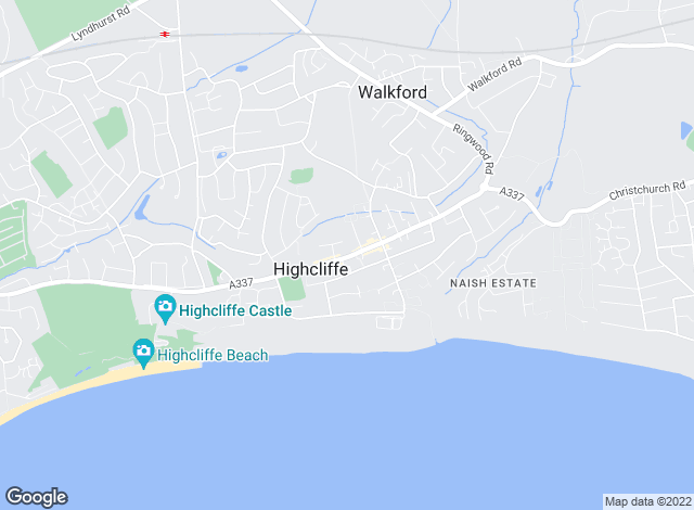 Map for Slades Estate Agents, Highcliffe