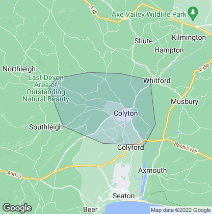 Map of property in Colyton