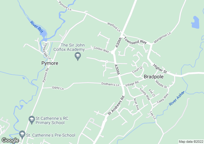 Map for Dodhams Farm Close, Bridport, DT6 3EZ