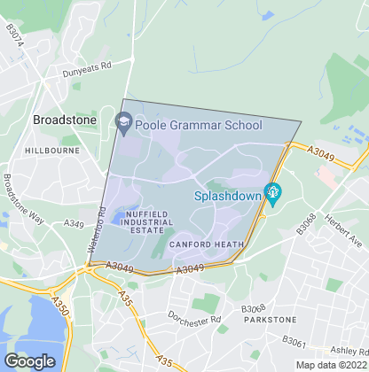 Map of property in Canford Heath