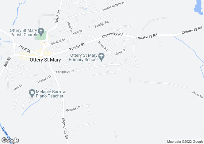 Map for ST MARYS PARK, OTTERY ST MARY