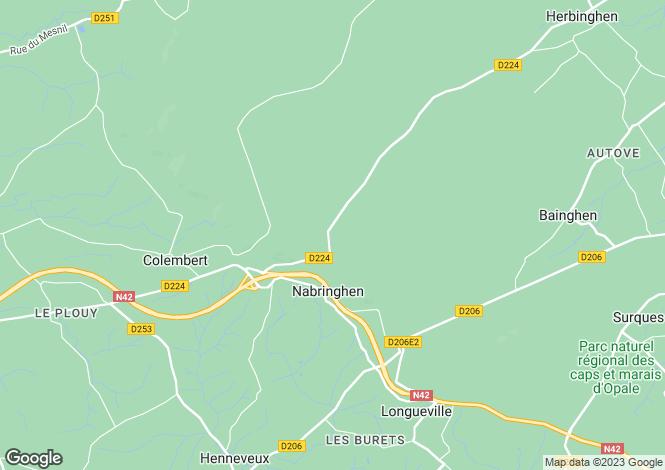 Map for nabringhen, Pas-de-Calais, France