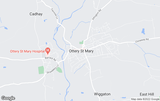 Map for Redferns, Ottery St Mary